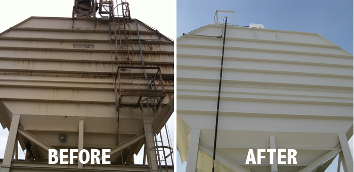 Industrial Painting Before & After